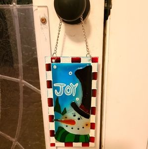 Snowman Glass Hanger